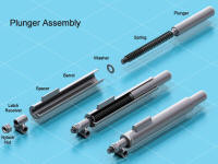 Plunger Latch Assembly Rendered