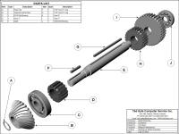 Shaft Assembly Grey Scale